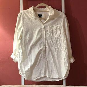 J. Crew Collared Popover Shirt
